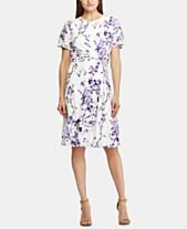 bdeff0c0a70a Lauren Ralph Lauren Petite Twisted-Knot Floral Jersey Dress