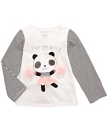 First Impressions Baby Girls Cotton Long-Sleeve Panda T-Shirt, Created for Macy's