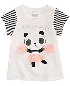Toddler Girls Panda-Print Cotton T-Shirt, Created for Macy's