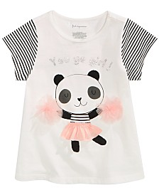 First Impressions Baby Girls Panda-Print Cotton T-Shirt, Created for Macy's