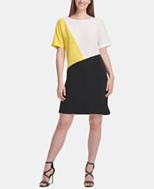 DKNY Colorblock Shift Dress