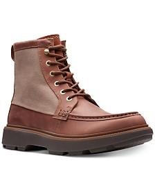 Clarks Men's Dempsey Peak British Tan Leather Casual Boots