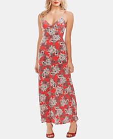 Vince Camuto Floral-Print V-Neck Maxi Dress