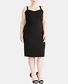RACHEL Rachel Roy Plus Size Sweetheart Sheath Dress