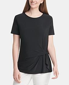 Short-Sleeve Knot T-Shirt