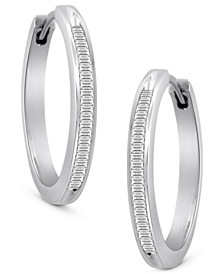 Diamond Hoop Earrings in Sterling Silver (1/2 ct. t.w.)