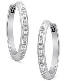 Diamond Hoop Earrings in Sterling Silver (1/2 ct. t.w.)