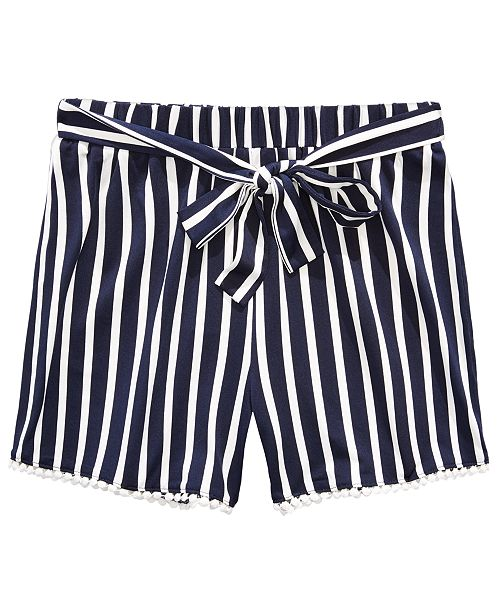 Monteau Big Girls Vertical Striped Shorts