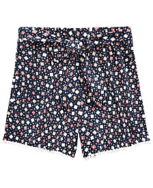Monteau Big Girls Geometric-Print Shorts