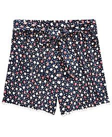 Monteau Big Girls Geometric-Print Shorts