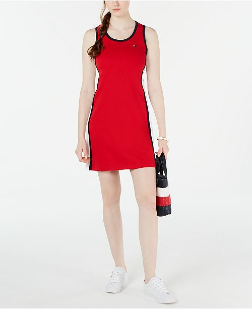 Tommy Hilfiger Colorblocked Cotton Tank Dress, Created for Macy's
