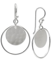 722d1808a Giani Bernini Circle & Disc Drop Earrings in Sterling Silver, Created for  Macy's