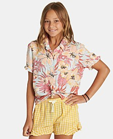 Billabong Big Girls Printed Ruffled-Hem Shorts