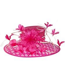 Pink Checkered Down Brim Hat