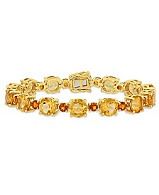 Citrine (29-3/8 ct.t.w.) Tennis Bracelet in 18k Yellow Gold over Sterling Silver