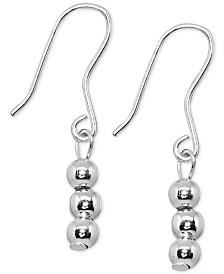 Giani Bernini Triple Ball Linear Earrings in Sterling Silver, Created for Macy's