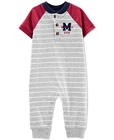Baby Boys Colorblocked Varsity Cotton Coverall