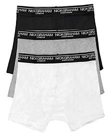 Men's 3 Pack Cotton Solid Boxer Briefs
