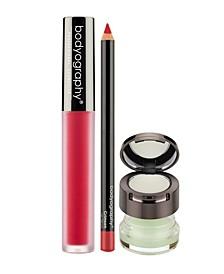 Lip Scrub, Balm, Lip Pencil, Liquid Lipstick Bundle