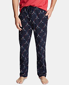 Nautica Men's Cotton Hockey-Print Pajama Pants