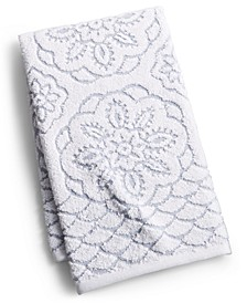 """CLOSEOUT! Rosa Floral Medallion Sculpted Cotton 16"""" x 28"""" Hand Towel, Created for Macy's"""