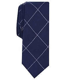 Original Penguin Men's Ferrell Grid Skinny Tie
