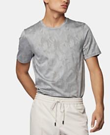 BOSS Men's Tessler 121 Slim-Fit Jacquard-Woven Cotton T-Shirt