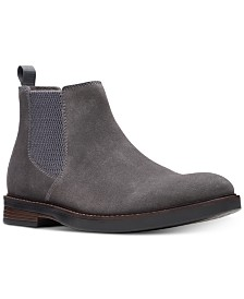 Clarks Men's Paulson Up Graphite Suede Casual Boots