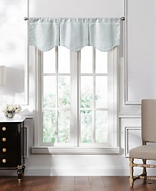 "Lucida Spa Lace Pleated Valance, 50"" x 15"""