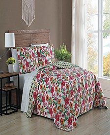 Poppy 3-pc Queen Reversible Quilt Set