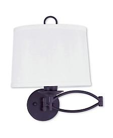 Livex Basic 1-Light Swing Arm Wall Lamp