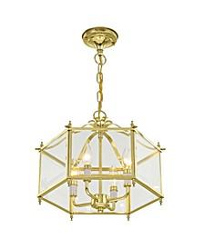 Livingston 4-Light Convertible Pendant/Ceiling Mount