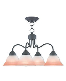 CLOSEOUT! Livex   Wynnewood 4-Light Convertible Dinette Chandelier/Ceiling Mount
