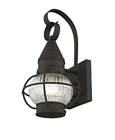 "CLOSEOUT! Livex   Newburyport 1-Light 13.75"" Wall Lantern"