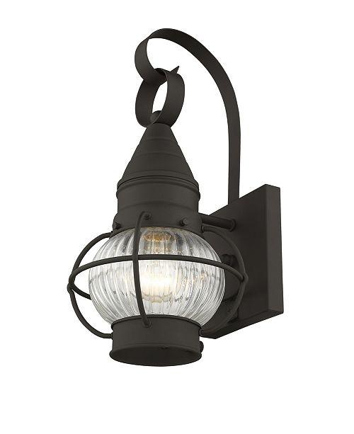 "Livex CLOSEOUT!   Newburyport 1-Light 13.75"" Wall Lantern"