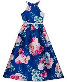Rare Editions Big Girls Floral-Print Gown