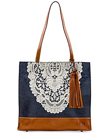 Toscano Denim Crochet Tote