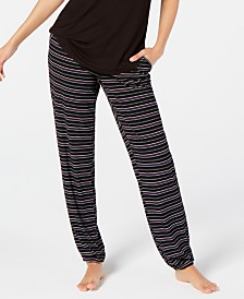 Alfani Super Soft Striped Jogger Pajama Pants, Created for Macy's