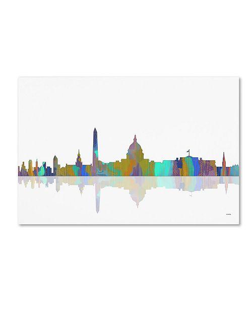 """Trademark Global Marlene Watson 'Washington DC Skyline IV' Canvas Art - 12"""" x 19"""""""