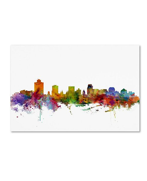 "Trademark Global Michael Tompsett 'Salt Lake City Skyline' Canvas Art - 12"" x 19"""