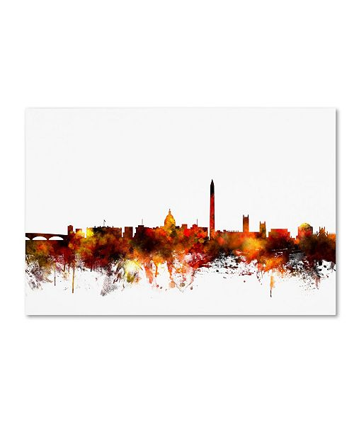 "Trademark Global Michael Tompsett 'Washington DC Skyline IV' Canvas Art - 12"" x 19"""