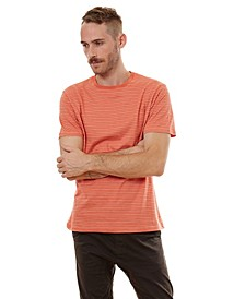 Short Sleeve Striped Crew Neck Tee
