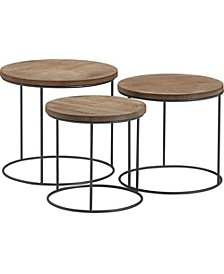 Berkshire 3pc Nesting Table Set