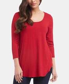 Karen Kane Shirttail Top