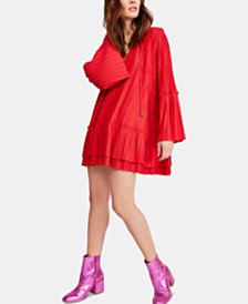 Free People Can't Help It Pleated Mini Dress