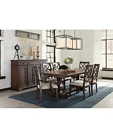 Trisha Yearwood Trisha Dining 7-Pc. Set (Expandable Table, 4 Side Chairs & 2 Arm Chairs)