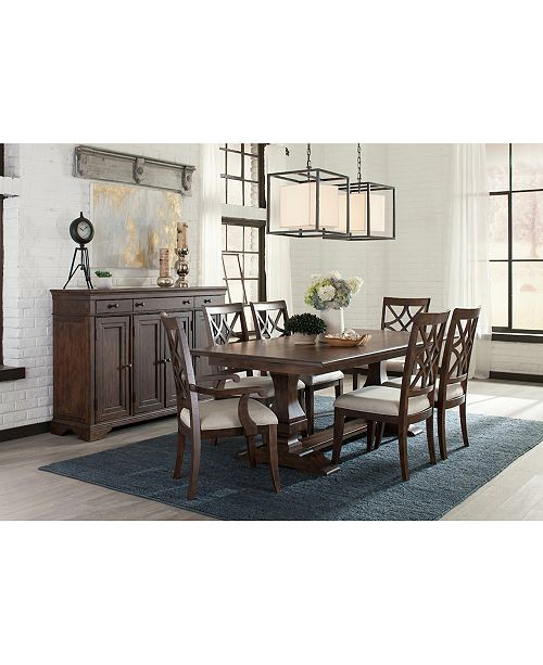 Furniture Trisha Dining Furniture, 7-Pc. Set (Expandable Table, 4 Side Chairs & 2 Arm Chairs)