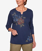 dcfa872f Alfred Dunner Lake Tahoe Studded Keyhole Top