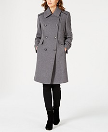 Wing-Collar Double-Breasted Coat
