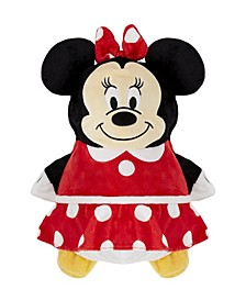 Toddler and Big Girls Disney Minnie Mouse 2-in-1 Stuffed Animal Hoodie